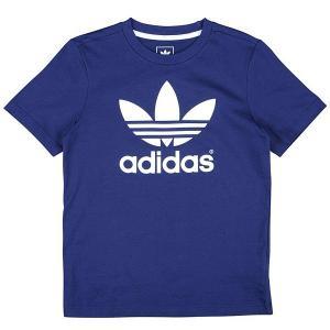 アディダス オリジナルス ボーイズ Tシャツ トレフォイル ロゴ ネイビー 紺 adidas originals Boy's Trefoil Logo TEE jetrag