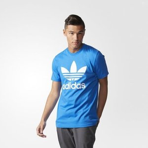アディダス オリジナルス メンズ トレフォイル ティー Tシャツ adidas originals Men's Trefoil Tee Bluebird jetrag