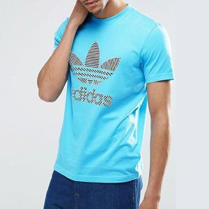 アディダス オリジナルス メンズ Tシャツ NMD トレフォイル フィル 半袖Tシャツ 青 ブルー adidas originals Men's NMD Trefoil Fill T-shirt jetrag