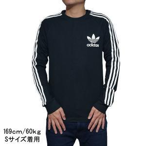 アディダス オリジナルス メンズ 長袖Tシャツ ブラック adidas originals CLFN BK5864 jetrag