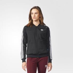 アディダス オリジナルス レディース ジャージ スーパースター トラックジャケット adidas originals Women Superstar Track Jacket Black|jetrag