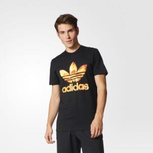 アディダス オリジナルス メンズ トレフォイル グラフィック Tシャツ adidas originals Men's Trefoil Graphic Tee Black jetrag