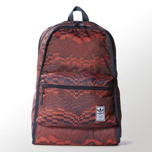 アディダス オリジナルス リュック リバーシブル バックパック adidas originals Men's Reversible Backpack Red / Collegiate Navy|jetrag