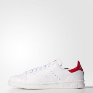 (取寄)アディダス オリジナルス メンズ スタンスミス スニーカー adidas originals Men's Stan Smith Shoes Running White Ftw/Running White/Collegiate Red jetrag