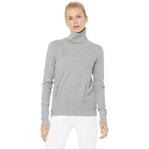 (取寄)アローヨガ レディース クラリティ ロングスリーブ トレーナー ALO YOGA Women Clarity Long-Sleeve Sweatshirt Dove Grey Heather|jetrag
