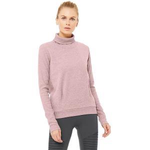 (取寄)アローヨガ レディース クラリティ ロングスリーブ トレーナー ALO YOGA Women Clarity Long-Sleeve Sweatshirt Dusted Plum Heather|jetrag