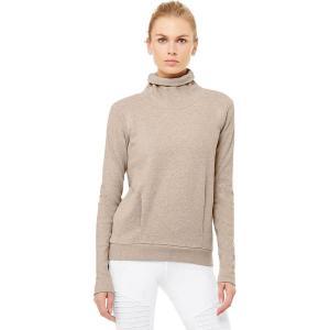 (取寄)アローヨガ レディース クラリティ ロングスリーブ トレーナー ALO YOGA Women Clarity Long-Sleeve Sweatshirt Putty Heather|jetrag