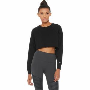 (取寄)アローヨガ レディース ダブルテイクトレーナー プルオーバー ALO YOGA Women Double TakeSweatshirt Pullover Black|jetrag