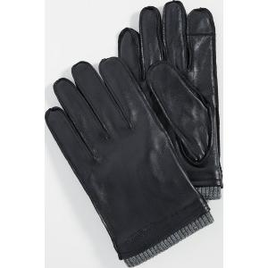 (取寄)バブアー バンプトン レザー グローブ Barbour Bampton Leather Gloves Black|jetrag