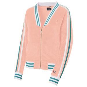 (取寄)チャンピオン レディース テリー クロス モダン ウォームアップ ジャケット Champion Women's Terry Cloth Modern Warm-Up Jacket Primer Pink|jetrag