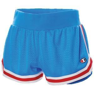 (取寄)チャンピオン レディース メッシュ ノッチ ショーツ Champion Women's Mesh Notch Shorts Active Blue Red|jetrag