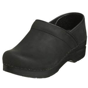 (取寄)ダンスコ レディース プロフェッショナル オイルド レザー クロッグ ブラック dansko Professional Oiled Leather Clog Black