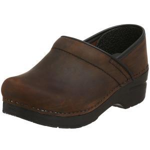 (取寄)ダンスコ レディース プロフェッショナル オイルド レザー クロッグ ブラウン dansko Professional Oiled Leather Clog Brown