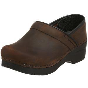 ダンスコ プロフェッショナル レディース オイルド レザー クロッグ ブラウン dansko Professional Oiled Leather Clog Brown (サボ サンダル)