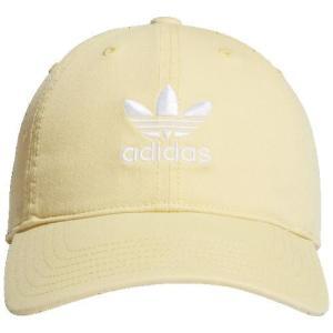 (取寄)アディダス レディース オリジナルス リラックスド ストラップバック ハットWomen's adidas Originals Relaxed Strapback Hat Easy Yellow White|jetrag