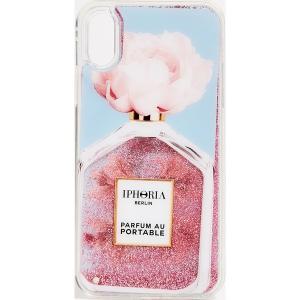 (取寄)アイフォリア パフューム オブリーク フラワー アイフォン XS / X ケース Iphoria Perfume Oblique Flower iPhone XS / X Case LightBlue|jetrag