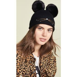 ケイトスペード エンベリッシュ キャット ビーニー ハット Kate Spade New York Embellished Cat Beanie Hat Black|jetrag