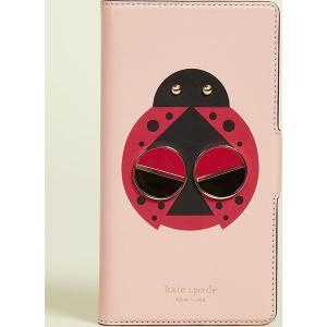 (取寄)ケイトスペード ラッキー レディバグ フォリオ アイフォン ケース Kate Spade New York Lucky Ladybug Folio iPhone Case FlapperPink jetrag