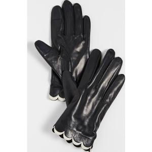 (取寄)ケイトスペード スカルプ レザー グローブ Kate Spade New York Scallop Leather Gloves Black|jetrag
