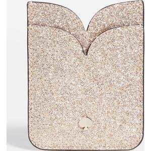 (取寄)ケイトスペード グリッター ダブル ステッカー ポケット Kate Spade New York Glitter Double Sticker Pocket PaleGold jetrag