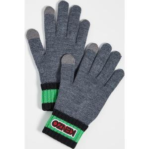 (取寄)ケンゾー ロゴ タグ ニット グローブ KENZO Logo Tag Knit Gloves MistyGrey|jetrag