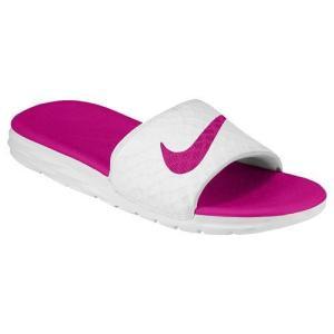 NIKE ナイキ レディース サンダル ベナッシ ソーラーソフト スライド 2 Nike Women's Benassi Solarsoft Slide 2 White Fireberry|jetrag