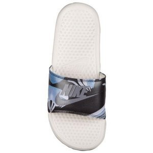 NIKE ナイキ サンダル ベナッシ 柄デザイン スライド Nike Women's Benassi JDI Slide Light Bone Light Carbon|jetrag