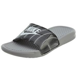 NIKE ナイキ サンダル ベナッシ 柄デザイン スライド ホワイト ブラック Nike Benassi JDI Slide Atmpshere Grey White Black|jetrag