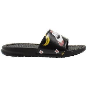 (取寄)ナイキ レディース ベナッシ JDI スライド Nike Women's Benassi JDI Slide Black White Black|jetrag