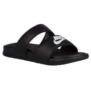 NIKE ナイキ ベナッシ サンダル レディース デュオ ウルトラ スライド Nike Women's Benassi Duo Ultra Slide Black White【目玉商品】|jetrag