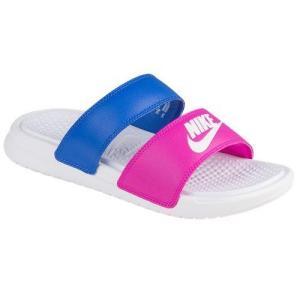 Nike ナイキ サンダル レディース ベナッシ デュオ ウルトラ スライド 819717 603 NIKE Women's Benassi Duo Ultra Slide Fire Pink White Comet Blue|jetrag