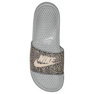 NIKE ナイキ サンダル サンダル ベナッシ スライド ブラック ホワイト ドット柄 Nike Benassi JDI Slide Wolf Grey Summit White 631261 008|jetrag