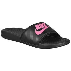 NIKE ナイキ レディース サンダル ベナッシ JDI スライド Nike Women's Benassi JDI Slide Black Vivid Pink