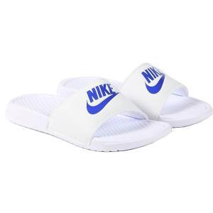 NIKE ナイキ サンダル ベナッシ 白 青 ホワイト ブルー  Nike Benassi 343880-102|jetrag
