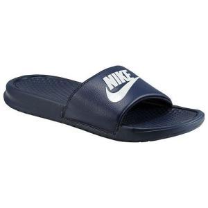NIKE ナイキ サンダル メンズ ベナッシ JDI スライド Nike Men's Benassi JDI Slide Midnight Navy Windchill【目玉商品】|jetrag