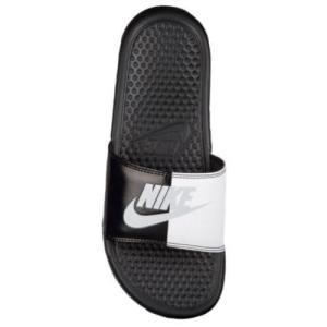 ナイキ レディース サンダル ベナッシ JDI スライド Nike Women's Benassi JDI Slide Black Pure Platinum White|jetrag