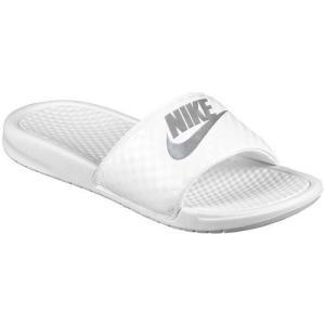 (取寄)NIKE ナイキ サンダル ベナッシ 白 シルバー スライド Nike Women's Benassi JDI Slide White Metallic Silver|jetrag