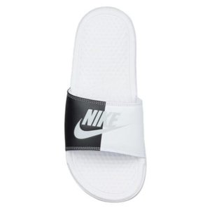 NIKE ナイキ サンダル ベナッシ ホワイト ブラック Nike Benassi JDI Slide White Pure Platinum Black|jetrag