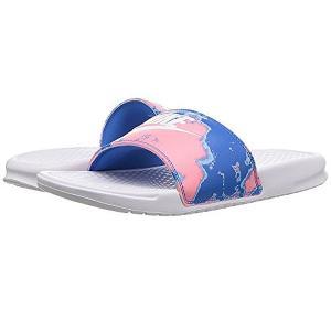 NIKE ナイキ ベナッシ サンダル 柄 デザイン ピンク ブルー Nike Benassi JDI Slide White/White/Coral/Blue Nebula|jetrag