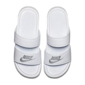 (取寄)NIKE ナイキ サンダル レディース ベナッシ デュオ ウルトラ スライド Nike Women's Benassi Duo Ultra Slide White Metallic Silver|jetrag