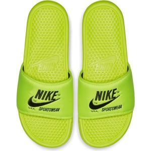 NIKE ナイキ サンダル ベナッシ JDI プリント ネオンイエロー Nike Benassi JDI Text SE Volt Black|jetrag