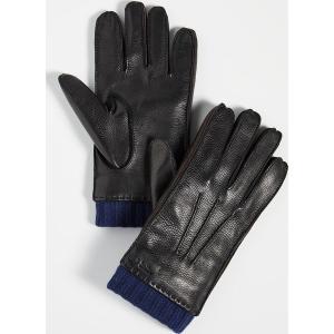 (取寄)ポールスミス ディアスキン グローブ Paul Smith Deerskin Gloves Black|jetrag