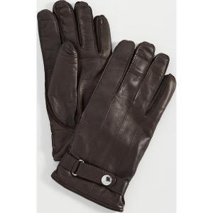 (取寄)ポールスミス ストラップ レザー グローブ Paul Smith Strap Leather Gloves DarkBrown|jetrag