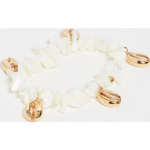 (取寄)シャシ ウェーブ ブレスレット Shashi Waves Bracelet White Go...