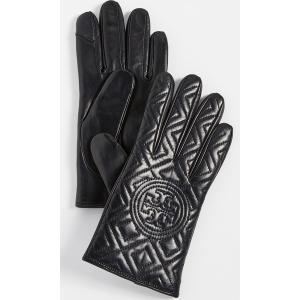 (取寄)トリーバーチ フレミング グローブ Tory Burch Fleming Gloves Black|jetrag