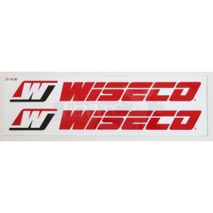 WISECO(ワイセコ) ワイセコ デカール レッドロゴ 7cmX24cm/1枚 2カット|jetwave