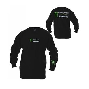 POWER SPORTS APPAREL(パワースポーツアパレル) カワサキ モンスターエナジー 女性 子供 ロングスリーブTシャツ Long Sleeve Tee|jetwave