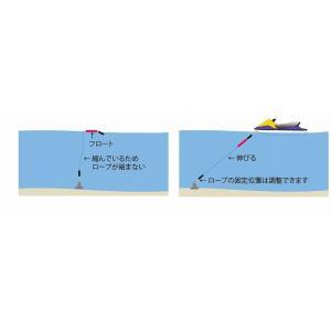 Others Maker(ソノタメーカ) ブラック ハードコートアンカー (4.5Kg)3点セット アンカー:黒 ロープ:白 のびのびロープ マークブイ 伸びるロープ アンカーロープ|jetwave|09