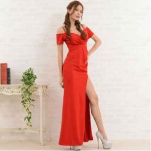 dad1834e8f83b ... キャバドレス ロング キャバ ドレス スリット キャバクラドレス Jewel ジュエル オフショルダー ロングドレス|jewel ...