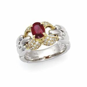 ルビー リング (加熱) / R-1.263カラット D-0.29カラット K18プラチナ|jewelelegance